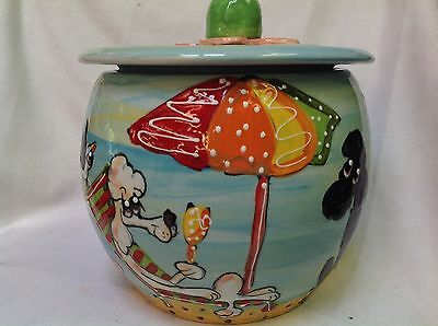 Hand Painted Ceramic Poodle Cookie Jar