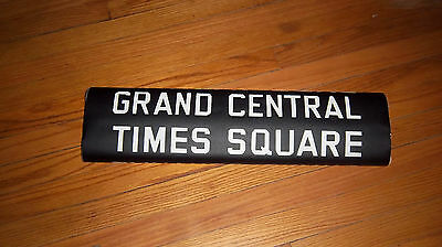 VINTAGE NYC SUBWAY R14 IRT COLLECTIBLE ROLL SIGN GRAND CENTRAL TIMES SQUARE N.Y.