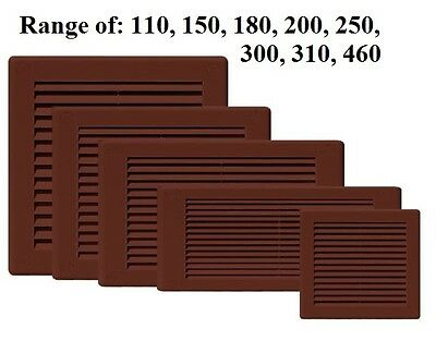 air vent grille ventilation cover louvre 110,150,180,200,250,300,310,460 BROWN