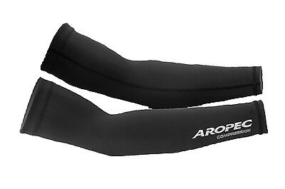 Aropec Compression Arm Sleeve Triathlon Running Cycling Football XS - XL