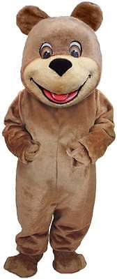 Happy Teddy Bear Professional Quality Lightweight Mascot Costume Adult Size
