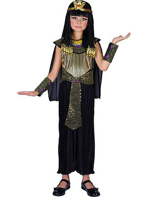 Girls Egyptian Queen Outfit Book Week Cleopatra Princess Fancy Dress Costume