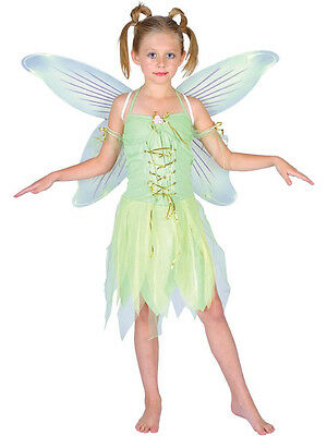 Child Neverland Fairy Outfit Fancy Dress Costume Pixie Tinkerbell Book Week Kids