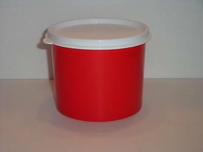 Tupperware Snack & Travel Canister 2-cup/500mL Storage Container & Seal Red New