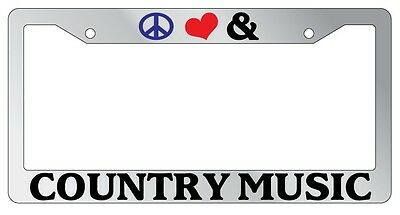 I LOVE COUNTRY MUSIC METAL LICENSE PLATE AUTO TAG #541