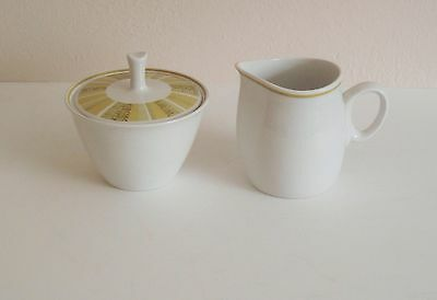 Franciscan Whitestone Antigua pattern Cream & Sugar - Mid Century