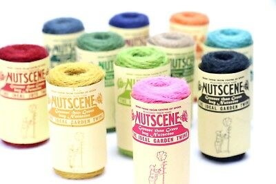 Nutscene Heritage Jute Twine String 16m Spool: 12 colours, choose pack size