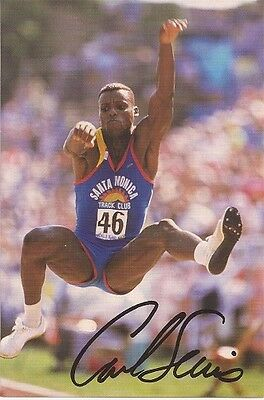 CARL LEWIS Hand Signed 4x6 Fan Club Photo - Free S/H in the US