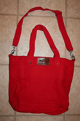 NWT Abercrombie & Fitch Womens Red Double Handle Tote Bag - LAST ONE!