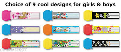 Re useable Kids ID Wrist Bands find lost children holiday school trip parties