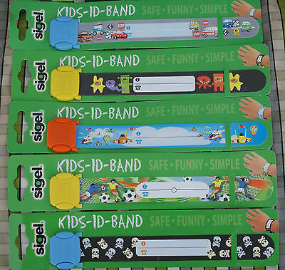 Boys ID wrist band Reuseable parties concert holiday festivals school trip