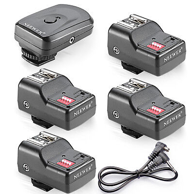 16CH Wireless Remote FM Radio Flash Speedlite Trigger w/2.5mm 4 Receivers EM#01