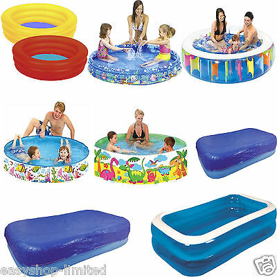 Outdoor Inflatable Swimming Paddling Pool Garden Family Pools Kids Ocean Large