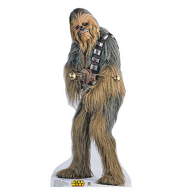 CHEWBACCA Star Wars Chewie Lifesize CARDBOARD CUTOUT Standup Standee Poster F/S