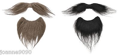 Mens Adult Beard And Moustache Tash Facial Hair Fancy Dress Costume Accessory