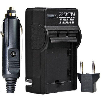 Premium Tech AC/DC PT-15 High Quality Battery Charger for Olympus Evolt E500
