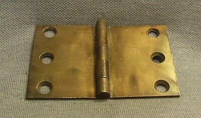Antique Brass Cabinet Hinge, Restoration, Authentic HW-136