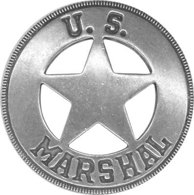 Obsolete Old West Marshall Badge (Round)