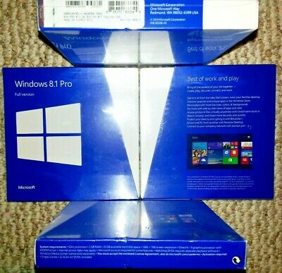 Microsoft Windows 8.1 Pro,Full,SKU FQC-06913,Sealed Retail Package,32-bit,64-bit