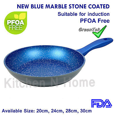 Non-Stick Frypan, Fry Pan, Blue Stone Coated, Pan,Induction,Ceramic,Cookware