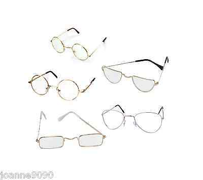 Adult Spectacles Glasses Specs Santa Ozzy Teacher Fancy Dress Costume Accessory