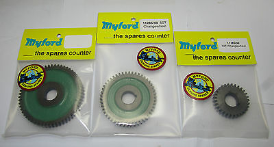 New genuine Myford change gears 20 - 70 tooth sizes gear direct from Myford ltd