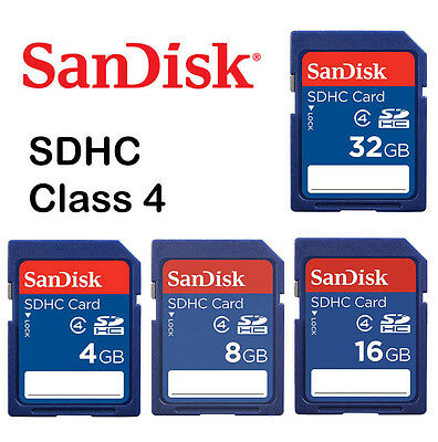 SanDisk 32G 32GB 16G 16GB 8G 8GB 4G 4GB SD SDHC Memory Card Class 4 for Camera