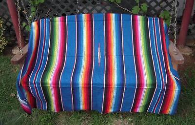Assorted Colors Sarape Serape Mexican Blanket, Saltillo Southwestern 47x 76.5 in
