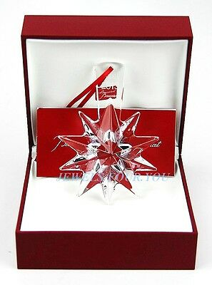 BACCARAT CLEAR STAR CHRISTMAS ORNAMENT 2013 NOEL CRYSTAL SIGNED NEW BOXED