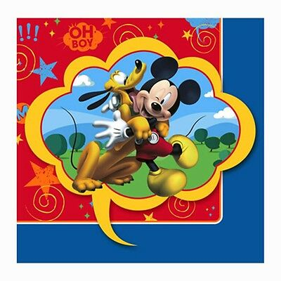 16 Disney Mickey Mouse Childrens Birthday Party 5in Beverage Napkins Serviettes