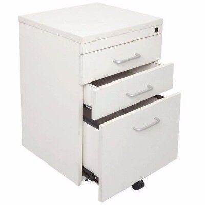Rapid Span 3 Drawer Mobile Pedestal WHITE 690Hx465Dx447D SPMP3W Sydney