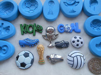 1x Sugarcraft/Fimo MOULD: FOOTBALL Sport Themed (Chocolate Clay Wax Resin Mold)