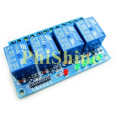 4 Channel 24V Relay Module Expansion Board High Level Trigger