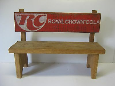RC Cola Bench Made from Wood Crate Pieces Royal Crown Cola New Jersey Tramp Art