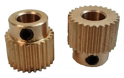 Brass Drive Gear for 1.75mm & 3mm Filament 3D Printer Extruder Pulley 5mm Shaft