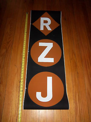 NYC NEW YORK SUBWAY VINTAGE COLLECTIBLE MAN CAVE LOFT R/Z/J ART NY ROLL SIGN OLD