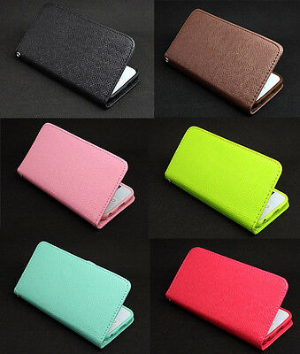 Deluxe Button Wallet Leather Flip + Tpu Skin Case Cover For iPod Touch 5 5TH Gen