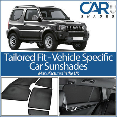 Suzuki Jimny 3dr 99- UV CAR SHADES WINDOW SUN BLINDS PRIVACY GLASS TINT BLACK