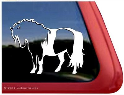 Pinto Dwarf Mini ~ Miniature Horse Trailer Car Window Decal Sticker
