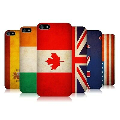 HEAD CASE DESIGNS VINTAGE FLAGS SET 1 HARD BACK CASE COVER FOR APPLE iPHONE 5 5S