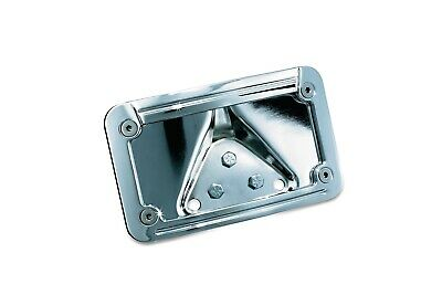 Kuryakyn Lighted Curved Chrome Laydown Plate Mount for Harley or Metric Models