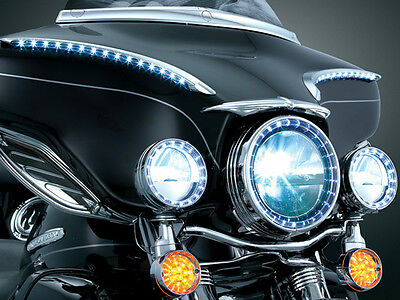 """Trucklite High Intensity LED Passing Lamps for Harley Touring  4 """" Housings."""