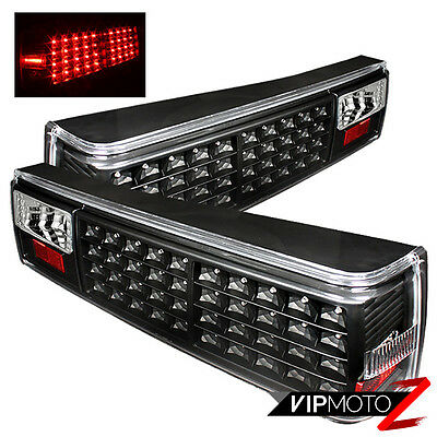 1987-1993 Ford Mustang Coupe Convertible Black LED Rear Brake Signal Tail Lights