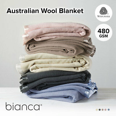 Australian Wool Blanket by BIANCA Single |Double| Queen | King| Super King | Cot