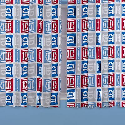 """ONE DIRECTION 'CRAZE' 66"""" x 72"""" CURTAINS READYMADE OFFICIAL"""