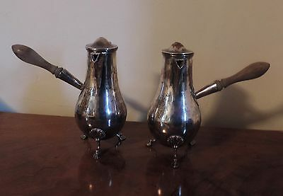 Antique Old Sheffield Silver on Copper Pot Coffee Hot Water Tea Chocolate Heart