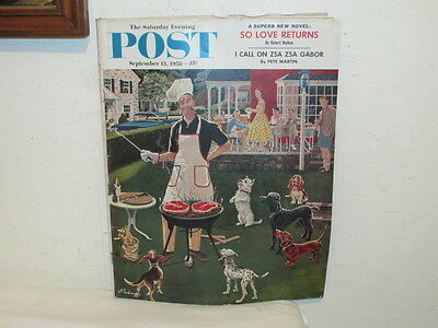 Vintage Saturday Evening Post Magazine September 13 1958 VFC 134 Pages Great Ads