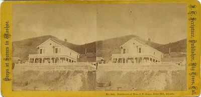 Nevada, Peeps at Scenes in Washoe (1860s) Residence of J.P. Jones, Gold Hill, NV