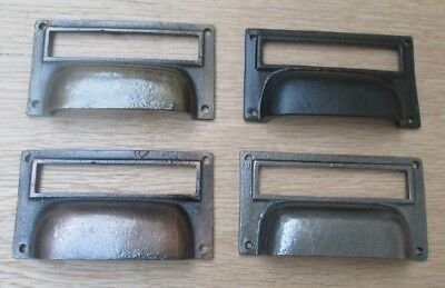 Cast Iron Drawer Cupboard Filing Cabinet Card Frame Holder Door Cup Pull Handle