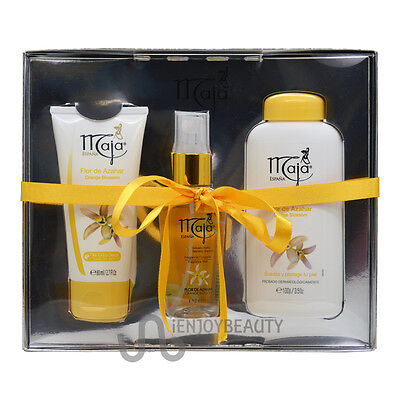 Maja Orange Blossom Gift Set Hand Cream&Fragrance Mist&Talcum Powder wFREE NFile